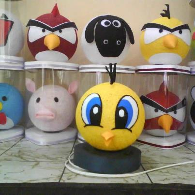 lampion angry bird @60rb